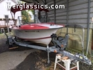1978 Olympic 18' Runabout - Red and White!