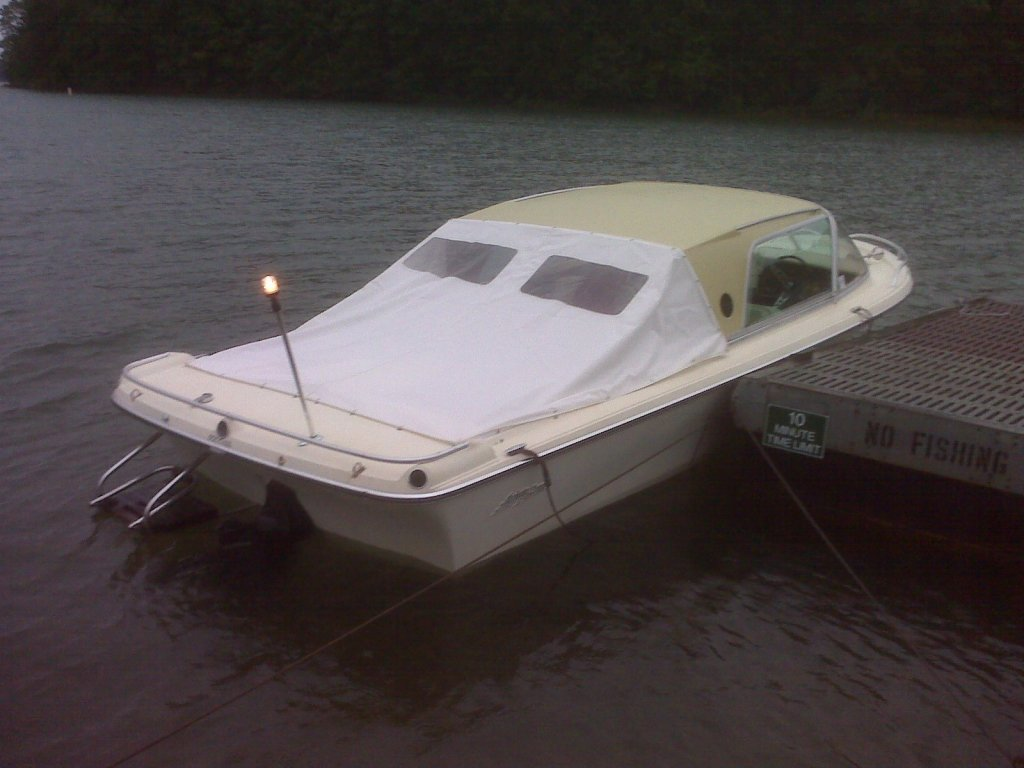 Rainy Day Boating with Aft Cover attached