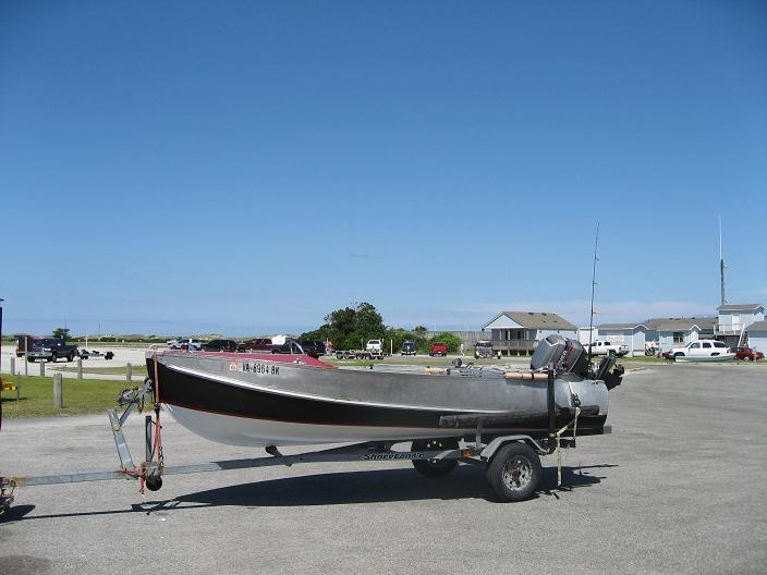 1950\'s Feathercraft w. newer Mariner