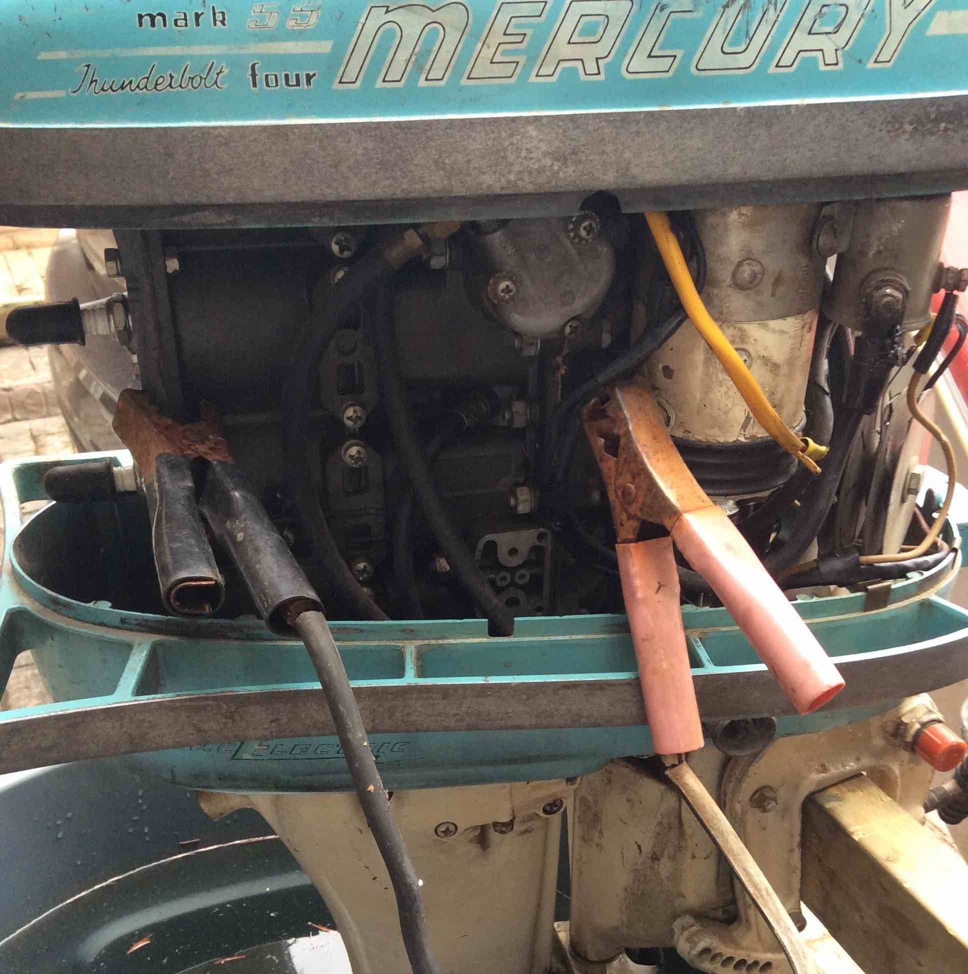 Fiberglassics 1956 Mercury Mark 55 E How To Jump Start It Wiring Diagram Check