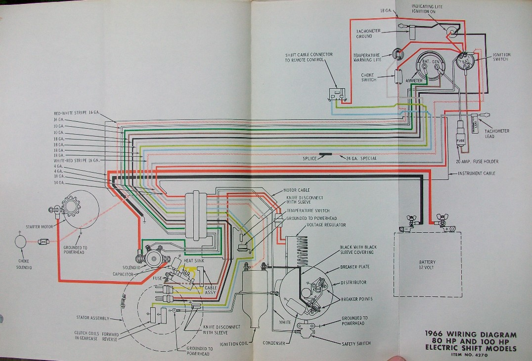 Fiberglassics 1966 Starflite 100 S Stator Forums Dc Wiring Diagram This Is Of Course An Ac Charging System Rather Than The Generator Earlier Motors
